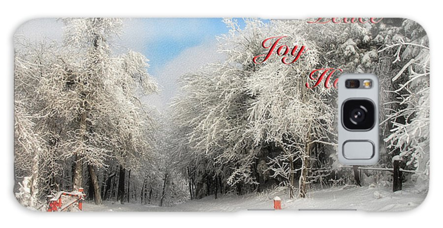 Christmas Galaxy S8 Case featuring the photograph Clearing Skies Christmas Card by Lois Bryan