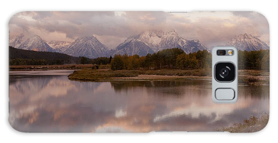 Grand Teton Galaxy S8 Case featuring the photograph Clearing Storm At Oxbow Bend by Sandra Bronstein