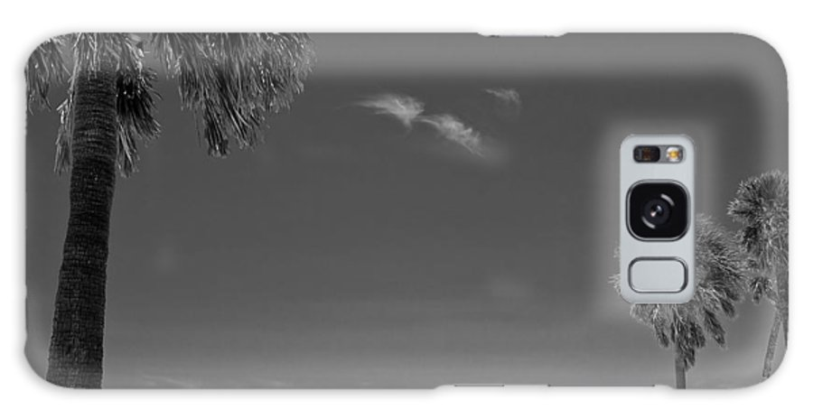 3scape Galaxy S8 Case featuring the photograph Clearwater Beach Bw by Adam Romanowicz