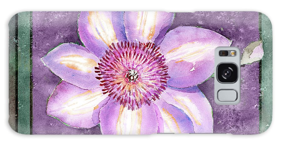 Flowers Galaxy S8 Case featuring the painting Clematis by Arline Wagner
