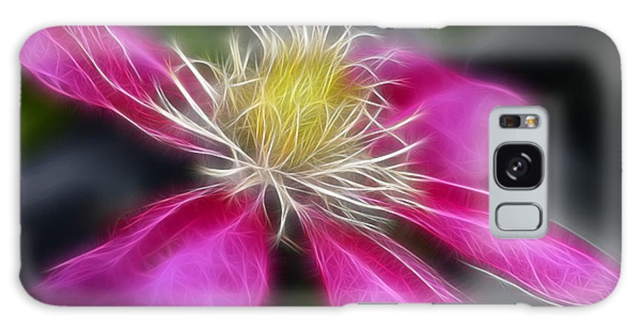 Flower Galaxy S8 Case featuring the photograph Clematis In Pink by Deborah Benoit