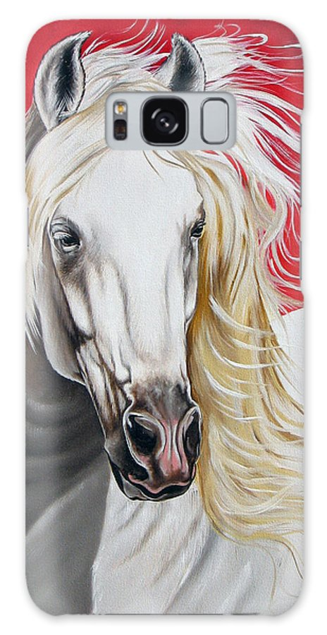 Horse Galaxy Case featuring the painting Cleo by Ilse Kleyn