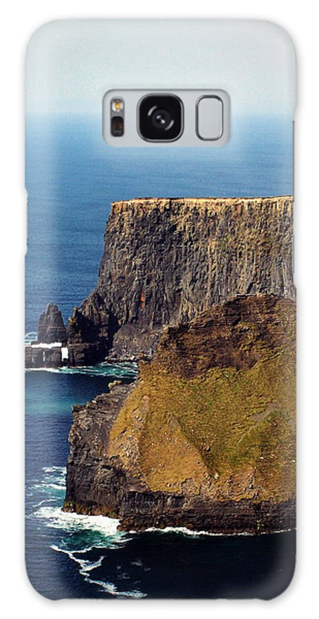 Irish Galaxy S8 Case featuring the photograph Cliffs Of Moher Ireland View Of Aill Na Searrach by Teresa Mucha