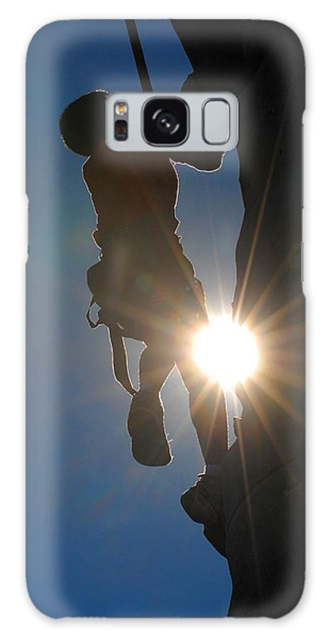 Climbing Galaxy S8 Case featuring the photograph Climber Silhouette by Steve Somerville