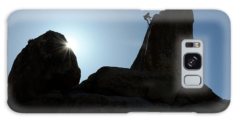 Joshua Tree National Park Galaxy S8 Case featuring the photograph Climbing In Joshua Tree by Bob Christopher