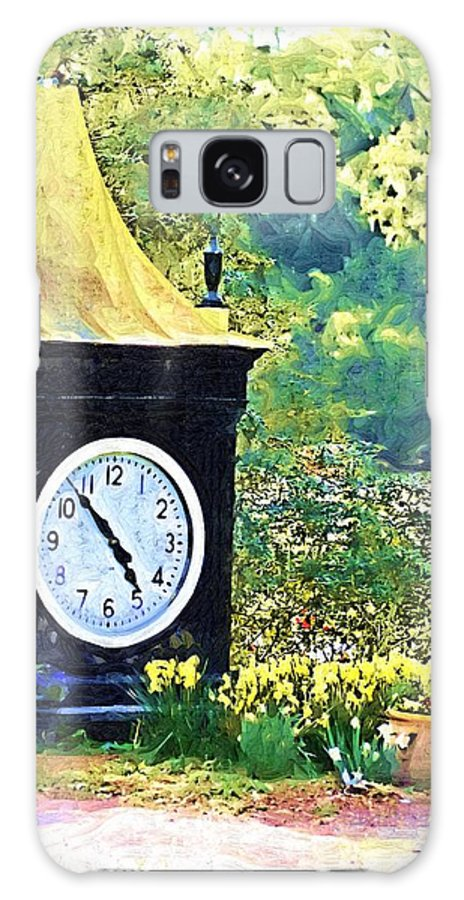 Clock Galaxy S8 Case featuring the photograph Clock Tower In The Garden by Donna Bentley