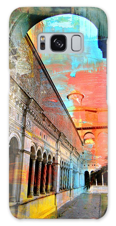 Rome Galaxy S8 Case featuring the photograph Cloister In Rome by Mindy Newman