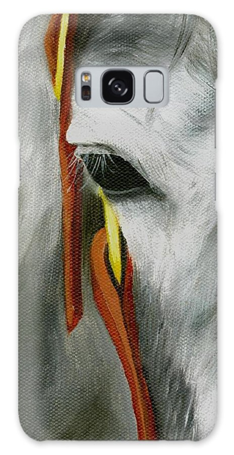 Horse Art Galaxy S8 Case featuring the painting Close Up by Deborah Butts