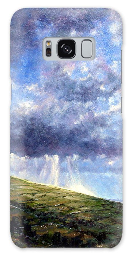 Oil Painting Galaxy S8 Case featuring the painting Cloud Burst Ireland by Jim Gola