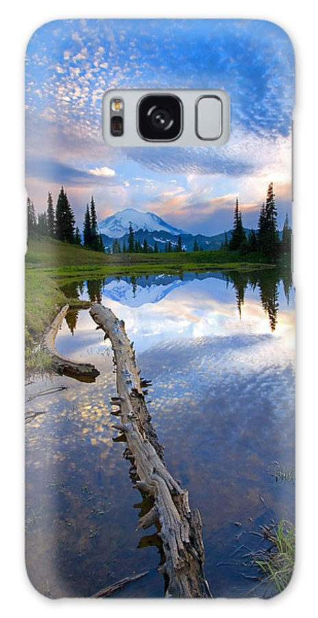 Landscape Galaxy Case featuring the photograph Cloud Explosion by Mike Dawson