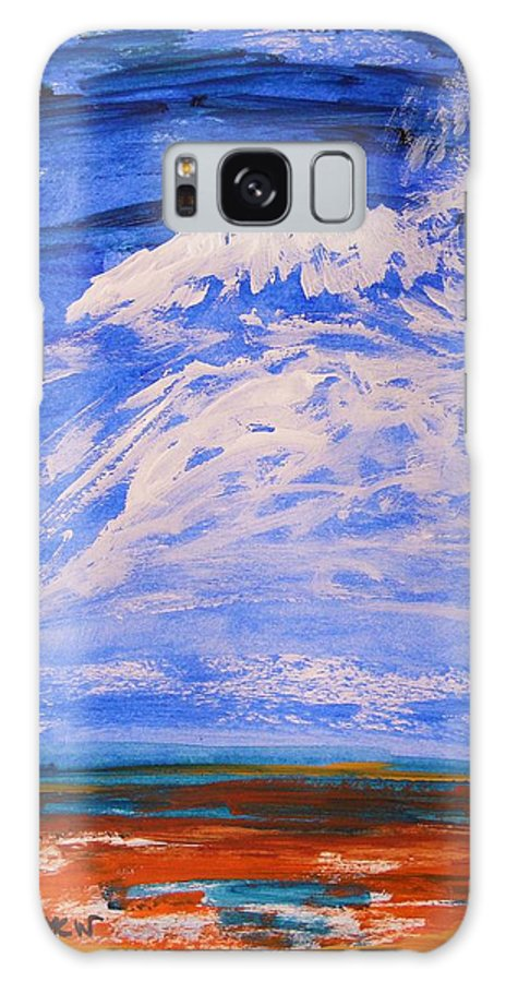 Clouds Galaxy S8 Case featuring the painting Clouds Dance by Mary Carol Williams