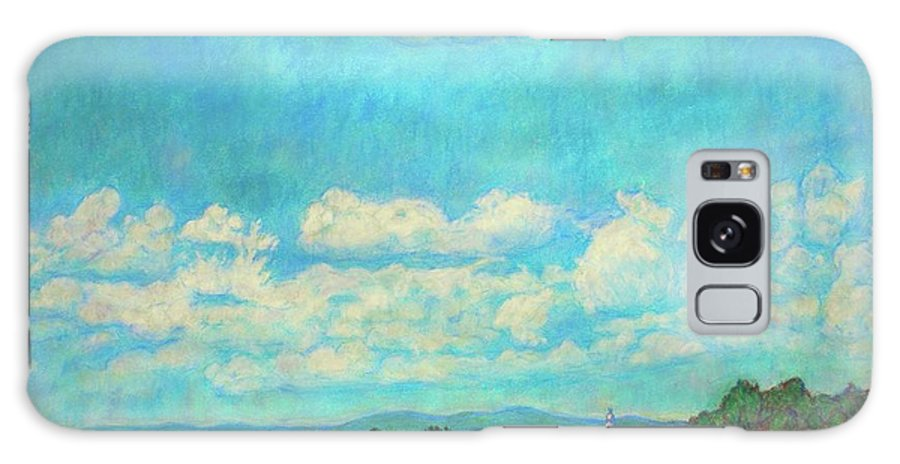 Landscape Galaxy Case featuring the painting Clouds Over Fairlawn by Kendall Kessler