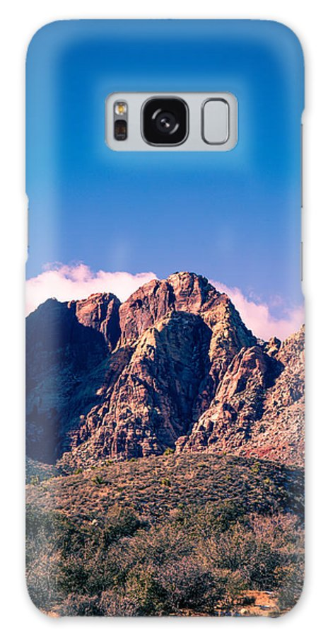 Desert Galaxy S8 Case featuring the photograph Clouds Over The Mountain by Rockland Filmworks