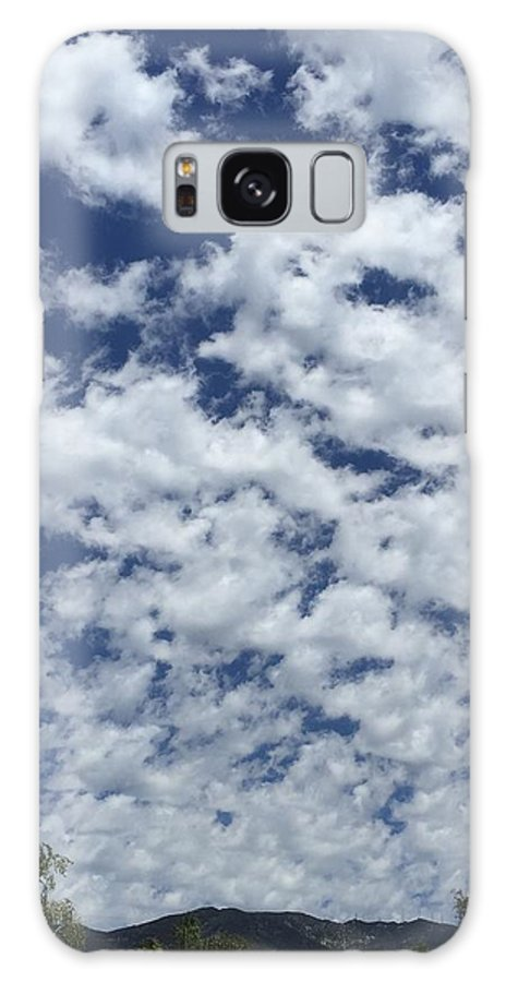 Clouds Sky Blue White Fluffy Big Dream Cotton Candy Galaxy S8 Case featuring the photograph Clouds by Russell Keating
