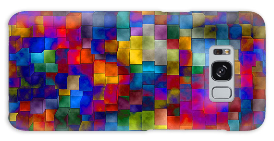 Abstract Galaxy S8 Case featuring the digital art Cloudy Cubes by Ruth Palmer