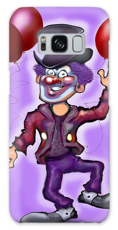 Clown Galaxy S8 Case featuring the digital art Clown by Kevin Middleton