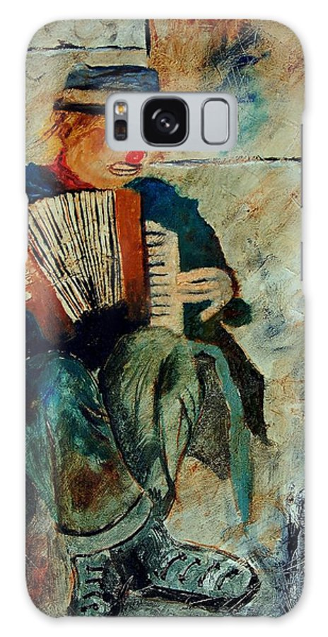 Music Galaxy S8 Case featuring the painting Clown by Pol Ledent