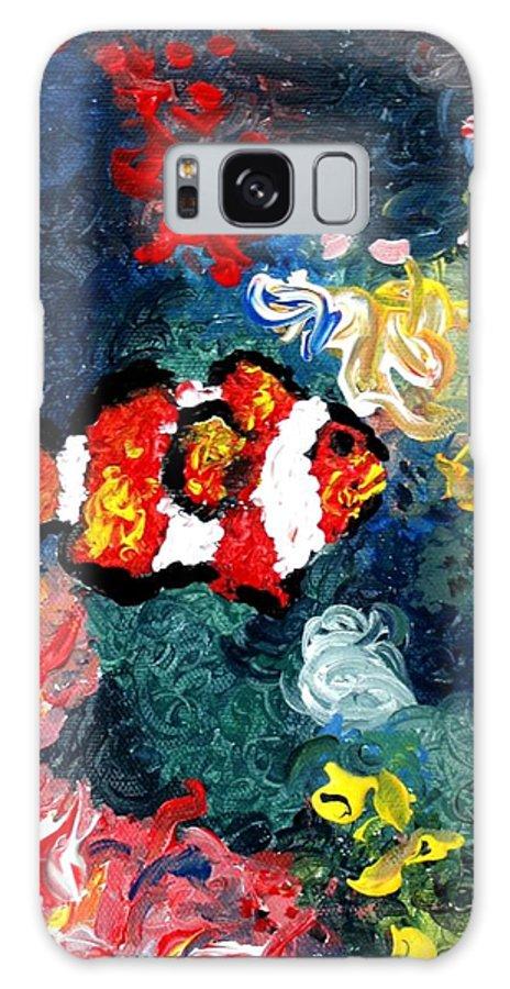Fish Galaxy S8 Case featuring the painting Clownfish by Luiza Vizoli