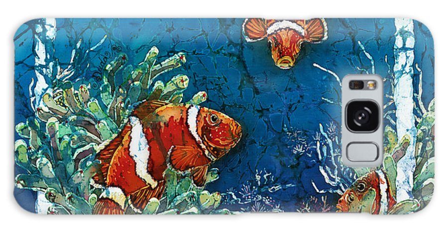Ocean Galaxy S8 Case featuring the painting Clowning Around - Clownfish by Sue Duda