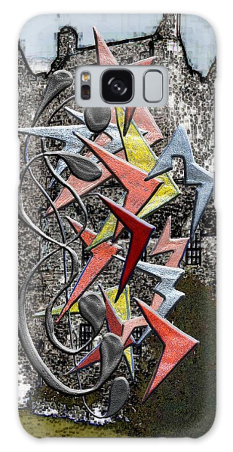 Castle Galaxy S8 Case featuring the digital art Clutch Of Chevrons by Mark Sellers