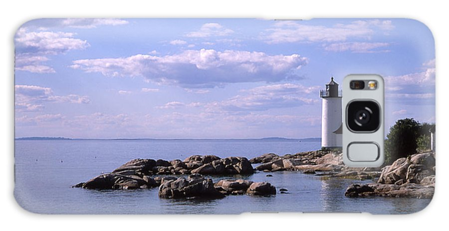 Landscape Lighthouse New England Nautical Galaxy Case featuring the photograph Cnrf0901 by Henry Butz