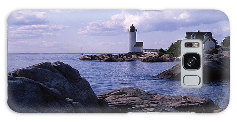 Landscape Lighthouse New England Annisquam Harbor Light Gloucester Galaxy S8 Case featuring the photograph Cnrf0903 by Henry Butz
