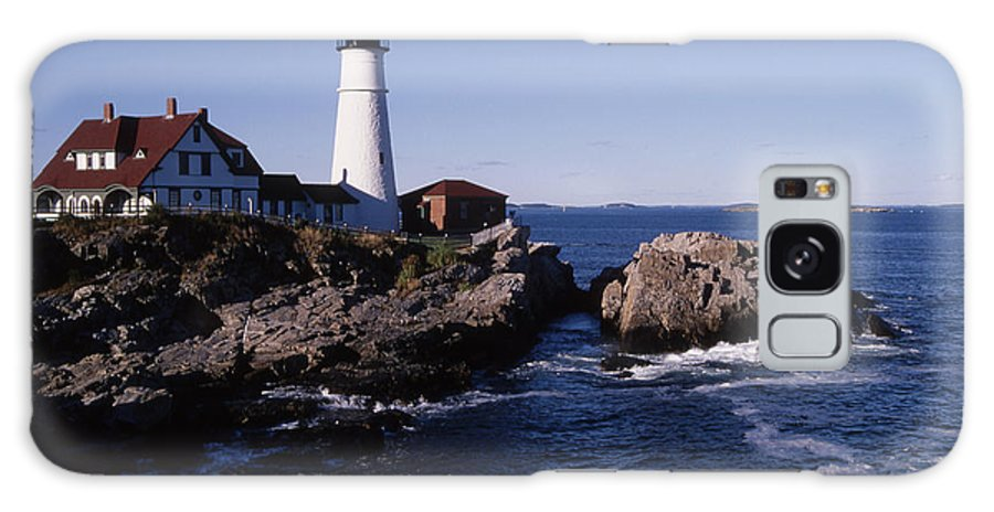 Landscape New England Lighthouse Nautical Coast Galaxy S8 Case featuring the photograph Cnrf0910 by Henry Butz