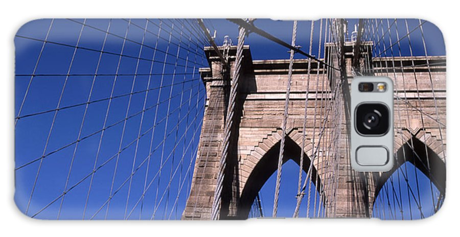 Landscape Brooklyn Bridge New York City Galaxy S8 Case featuring the photograph Cnrg0406 by Henry Butz