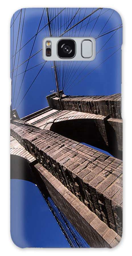 Landscape Brooklyn Bridge New York City Galaxy S8 Case featuring the photograph Cnrg0408 by Henry Butz