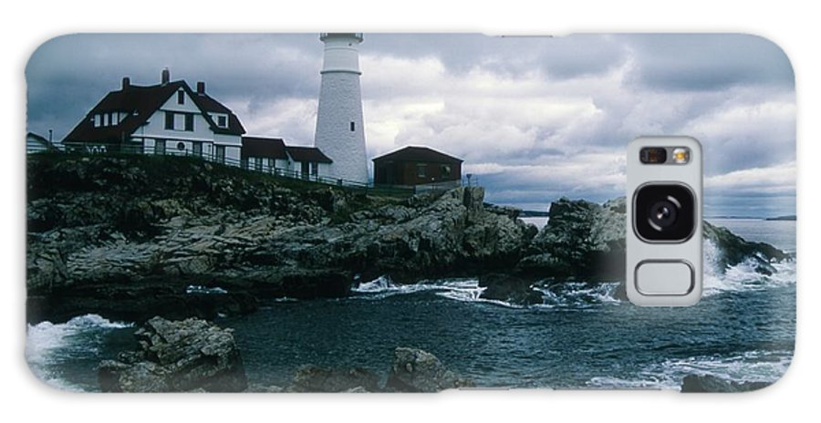 Landscape New England Lighthouse Nautical Storm Coast Galaxy S8 Case featuring the photograph Cnrg0601 by Henry Butz
