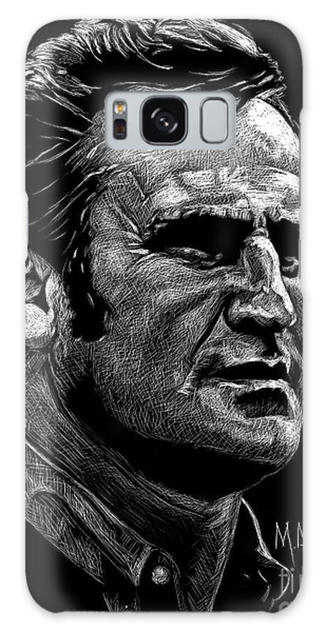 Don Shula Galaxy S8 Case featuring the drawing Coach Shula by Maria Arango