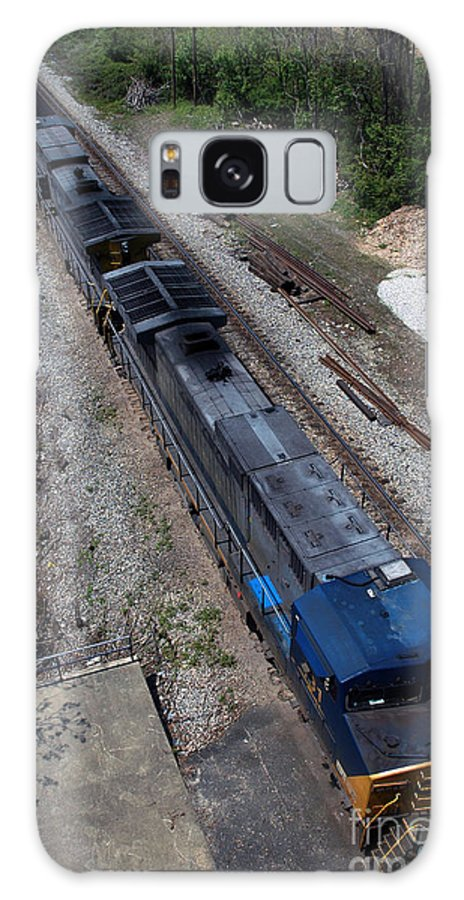 Train Galaxy Case featuring the photograph Coal Crossing by Kelvin Booker