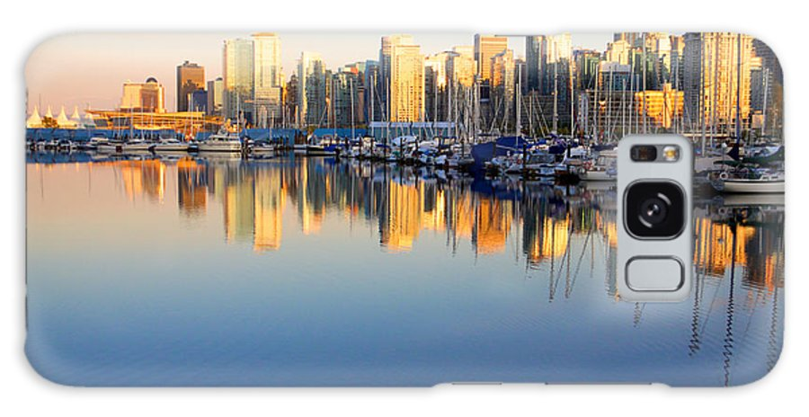 Boats Galaxy S8 Case featuring the photograph Coal Harbour Sunset 1 by Julius Reque