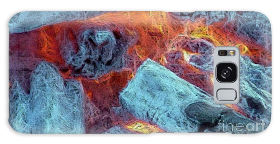 Fire Art Galaxy S8 Case featuring the digital art Coals And Embers by Ron Bissett