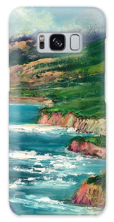 Surf Galaxy S8 Case featuring the painting Coastal Coves by Sally Seago
