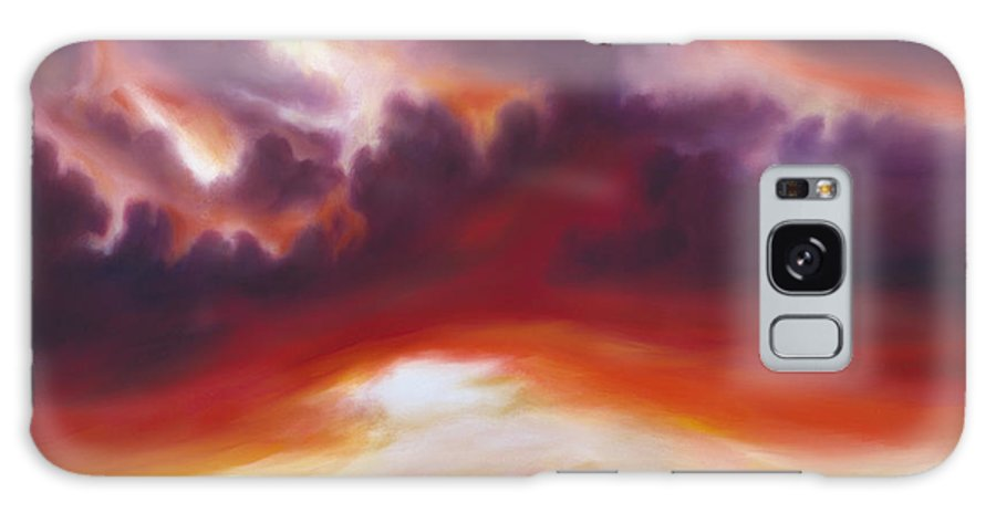 Skyscape Galaxy S8 Case featuring the painting Coastline by James Christopher Hill