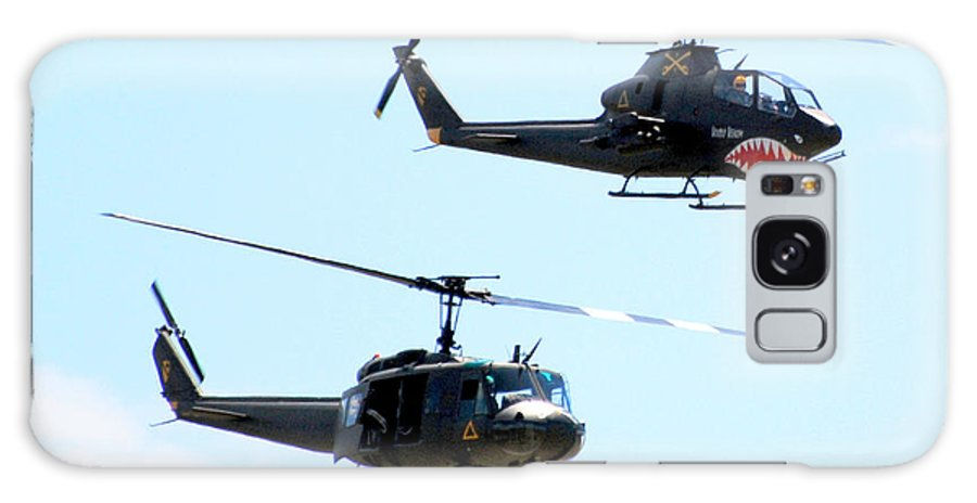 Military Galaxy Case featuring the photograph Cobra And Huey by Larry Keahey