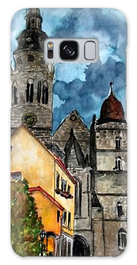 Germany Galaxy S8 Case featuring the painting Coburg Germany Castle Painting Art Print by Derek Mccrea