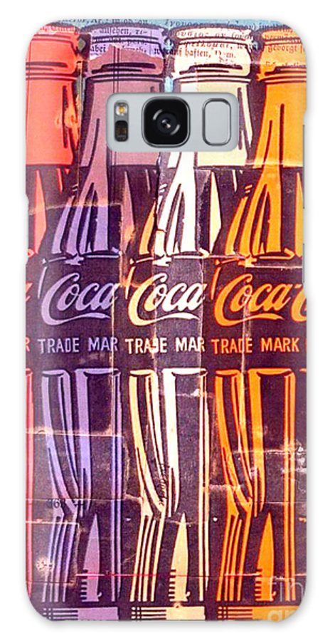 Collage Galaxy S8 Case featuring the painting Coca Cola Newspaper Art Pop Art Pur Serie by Felix Von Altersheim