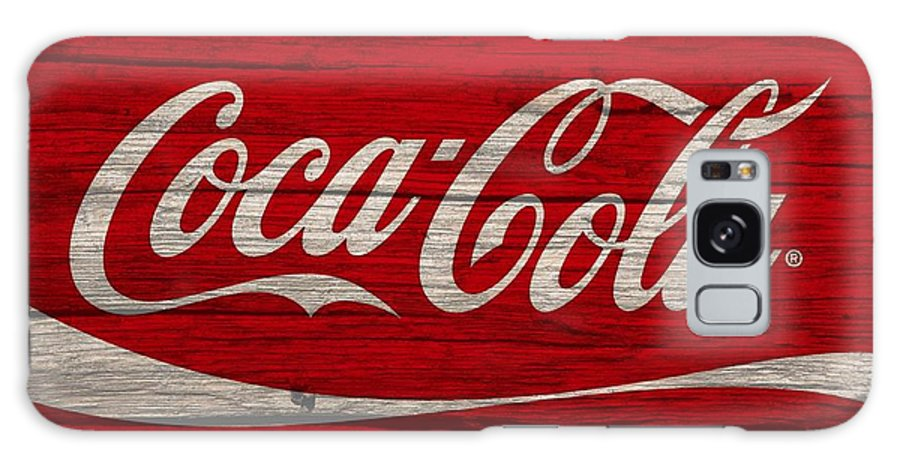 Coca Cola Classic Barn Galaxy Case featuring the photograph Coca Cola Worn Wood Sign by Dan Sproul
