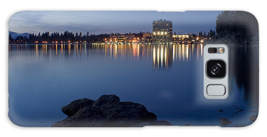 Skyline Galaxy Case featuring the photograph Coeur D Alene Skyline Night by Idaho Scenic Images Linda Lantzy