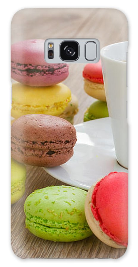 Coffee Galaxy S8 Case featuring the photograph Coffee And Macaroons by Anastasy Yarmolovich