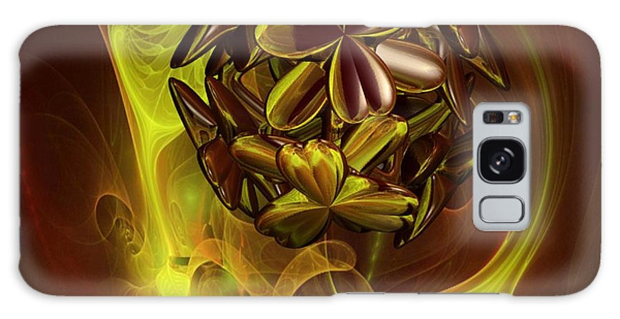 Coffee Flower Galaxy S8 Case featuring the digital art Coffee Siesta by Dana Furi