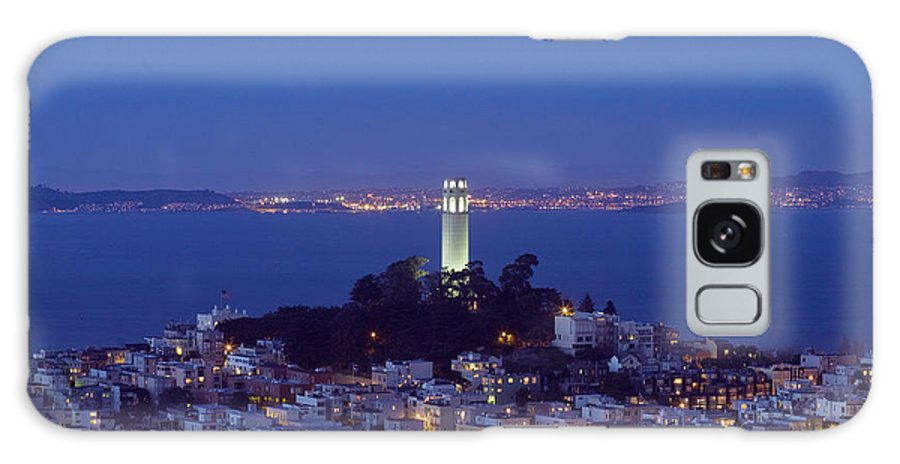 Coit Tower Galaxy S8 Case featuring the photograph Coit Tower At Dusk San Francisco California by Carol M Highsmith