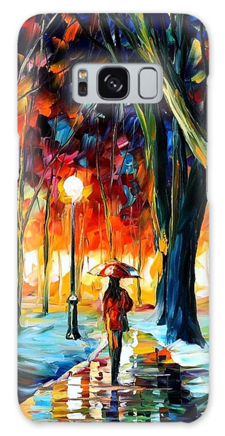 Afremov Galaxy S8 Case featuring the painting Cold Winter by Leonid Afremov