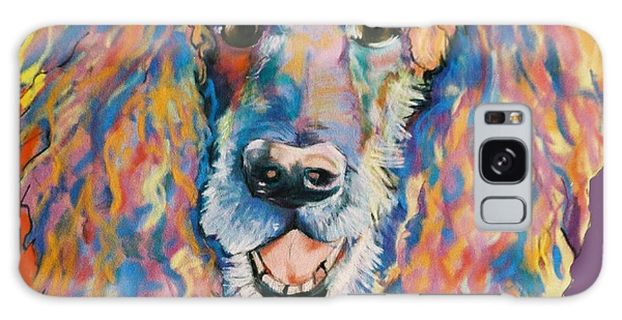 Standard Poodle Galaxy S8 Case featuring the painting Cole by Pat Saunders-White