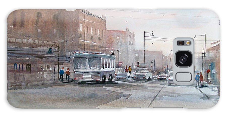 Ryan Radke Galaxy S8 Case featuring the painting College Avenue - Appleton by Ryan Radke