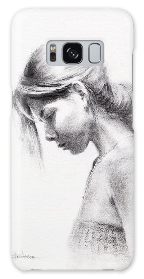 Woman Galaxy S8 Case featuring the drawing Colombiana by Steve Henderson