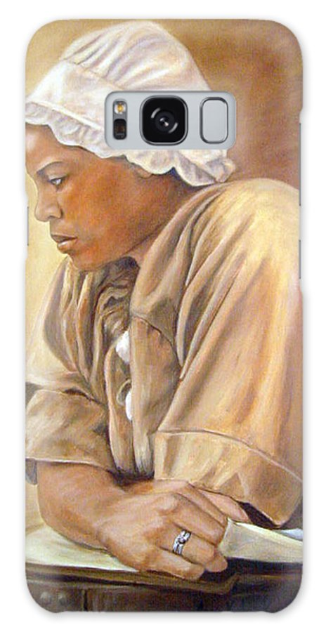 Portrait Galaxy S8 Case featuring the painting Colonial Serving Girl by Anne Kushnick