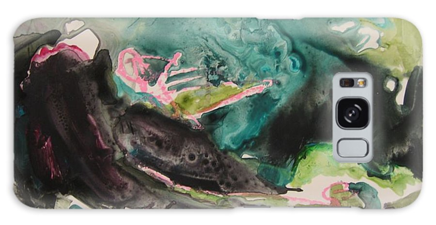 Abstract Paintings Galaxy Case featuring the painting Color Fever Series009 by Seon-Jeong Kim